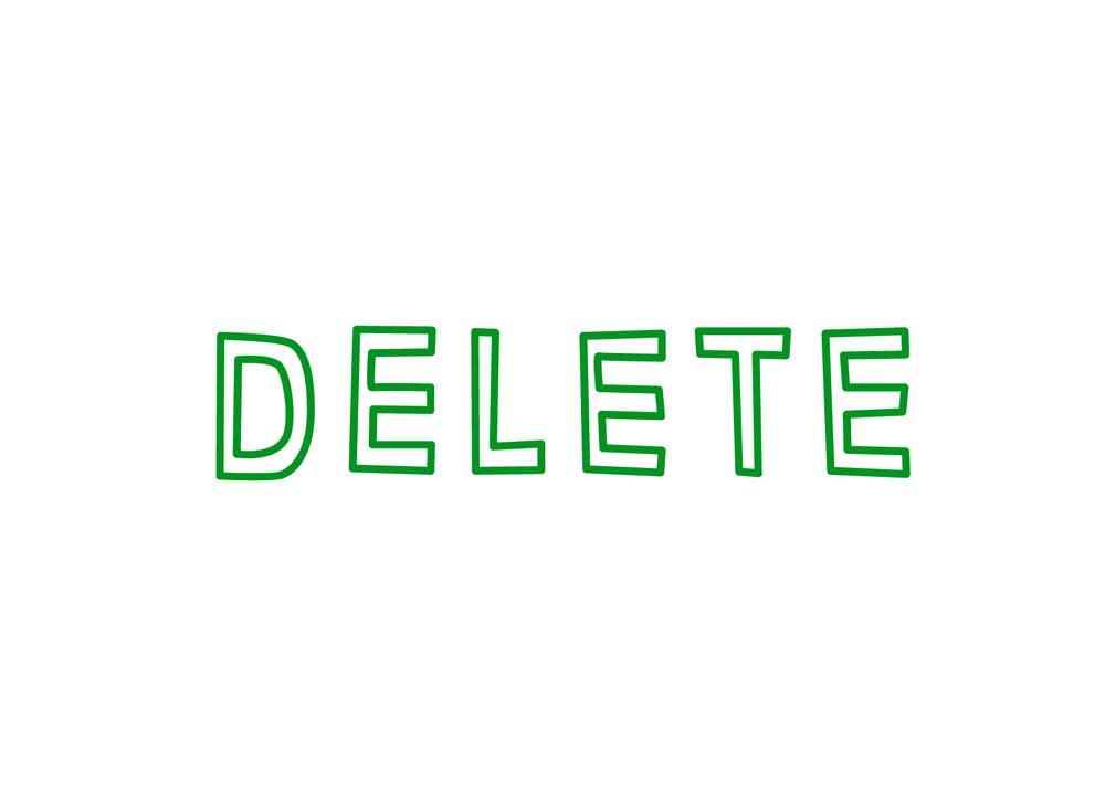 DELETE・削除イメージ