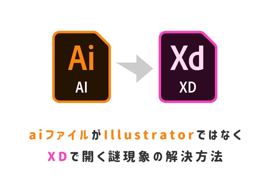 aiファイルがIllustratorではなくXDで開く謎の現象