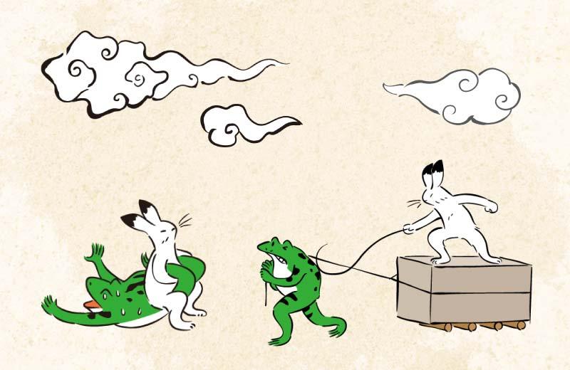 鳥獣戯画フリー素材集のダ鳥獣ギ画
