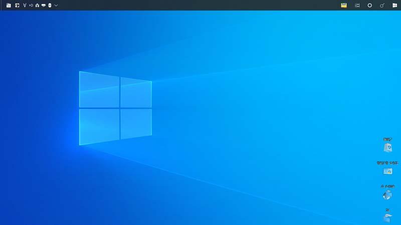 逆さにになってしまったパソコンの画面(Windows10)
