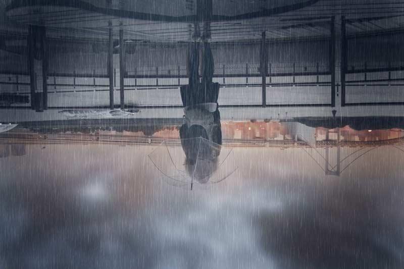 アイキャッチ画像(上下逆さまの雨模様)